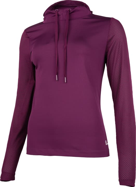 Fitness-Longsleeve Damen-Hoody Perform 464941804049 Farbe dunkelviolett Grösse 40 Bild-Nr. 1