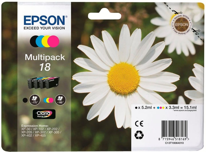 18 Claria Home Tintenpatrone Multipack Cartouche d'encre Epson 796088700000 Photo no. 1