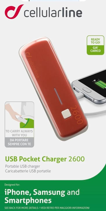 USB Pocket Charger 2600 Cellular Line 621506800000 Bild Nr. 1