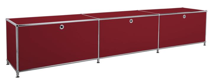 FLEXCUBE Lowboard 401813530130 Grösse B: 227.0 cm x T: 40.0 cm x H: 44.5 cm Farbe Rot Bild Nr. 1