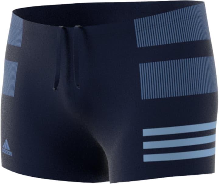 fitness boxer colourblock 3 stripes Boxer de bain pour homme Adidas 463101600443 Couleur bleu marine Taille M Photo no. 1