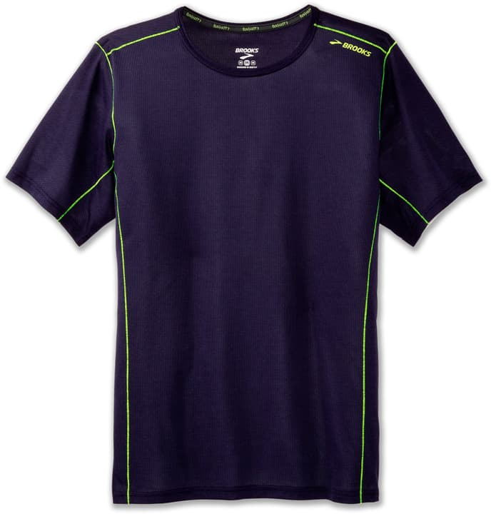 Ghost Short Sleeve Shirt pour homme Brooks 470173700522 Couleur bleu foncé Taille L Photo no. 1