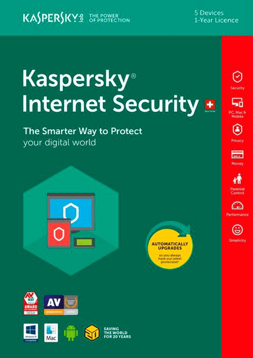 PC / Mac / Android Internet Security Fisico (Box) Kaspersky 785300129043 N. figura 1