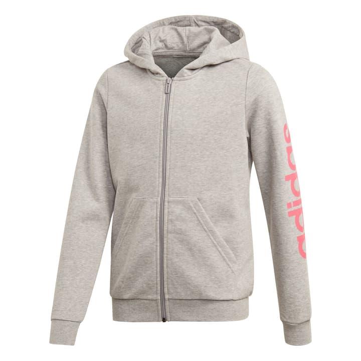 Linear Hoodie Mädchen-Kapuzenjacke Adidas 466938414080 Farbe grau Grösse 140 Bild-Nr. 1