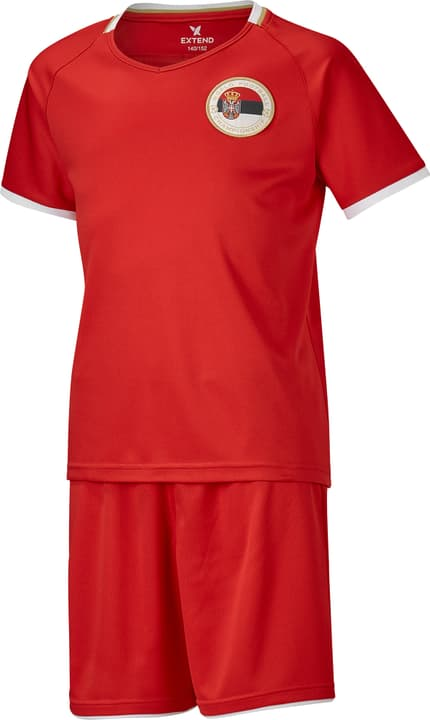 Set de supporter de foot pour enfants Serbie Extend 464556409930 Couleur rouge Taille 98/104 Photo no. 1