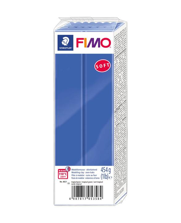 FIMO Soft blocco grande, blu brilliante Fimo 666929800000 N. figura 1