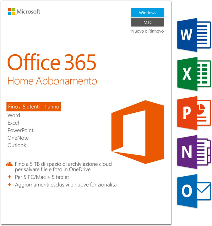 PC/Mac - Office 365 Home Physique (Box) Microsoft 785300121045 Photo no. 1