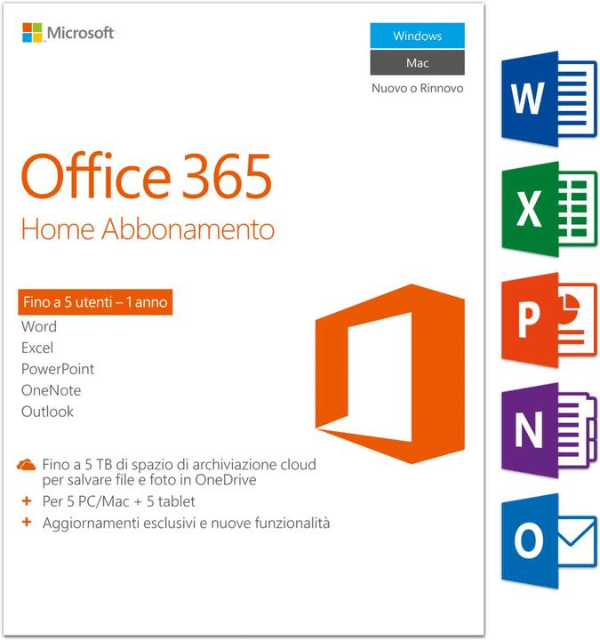 PC/Mac - Office 365 Home Microsoft 785300121045 Bild Nr. 1