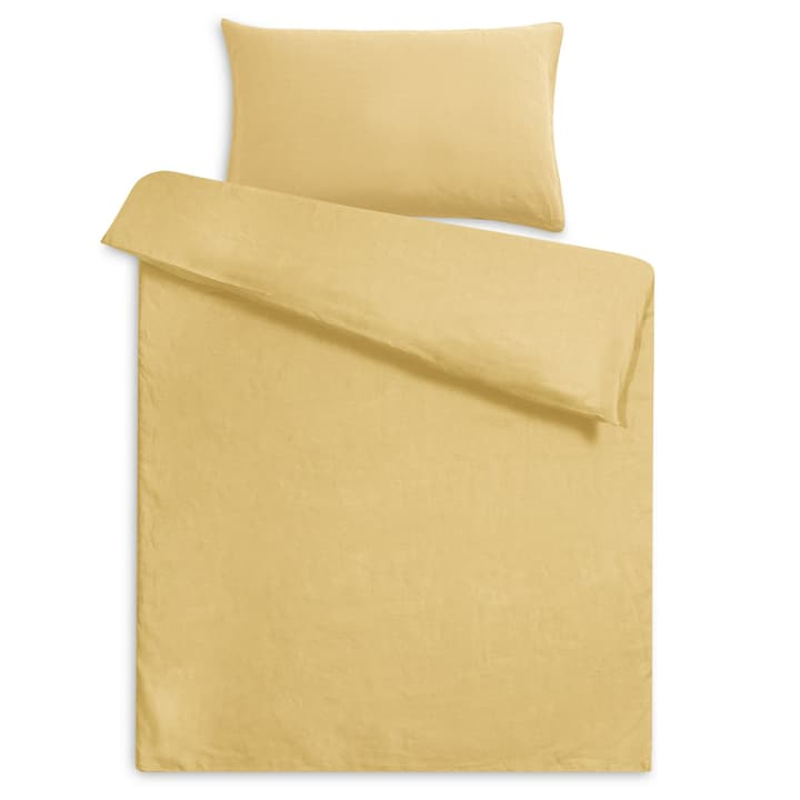 LINEN Housse de couette lin 376073312350 Dimensions L: 210.0 cm x L: 160.0 cm Couleur Jaune Photo no. 1