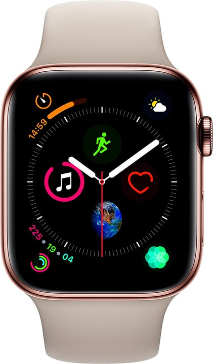 Watch Serie 4 44mm GPS+Cellular gold Stainless Steel Stone Sport Band Smartwatch Apple 798455000000 Photo no. 1