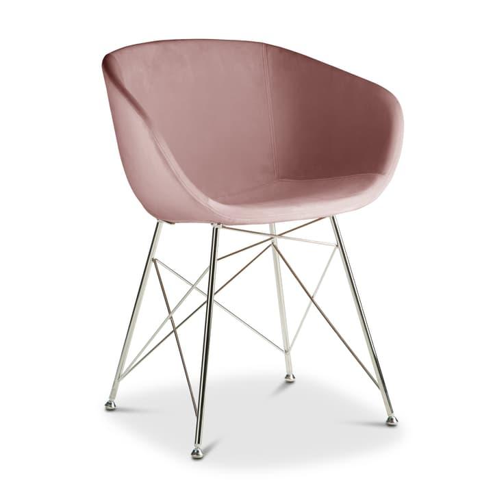 SEDIA Chaise avec accoudoirs 366171000000 Couleur Rose Dimensions L: 45.0 cm x P: 58.0 cm x H: 81.0 cm Photo no. 1