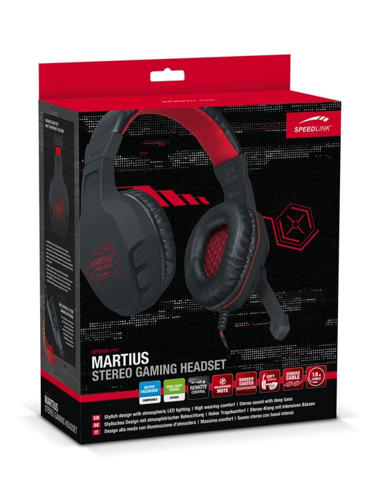 MARTIUS Stereo Gaming Headset noir Speedlink 797980100000 Photo no. 1