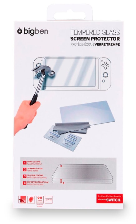 Nintendo Switch Tempered Glass Screen Protector Protège-Écran Bigben 785300126954 N. figura 1