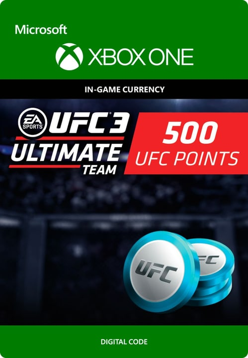 Xbox One - UFC 3: 500 UFC Points Digitale (ESD) 785300135551 N. figura 1