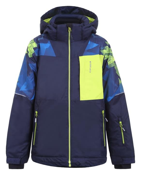 Leith Giacca da sci da bambino Icepeak 466950512862 Colore verde neon Taglie 128 N. figura 1