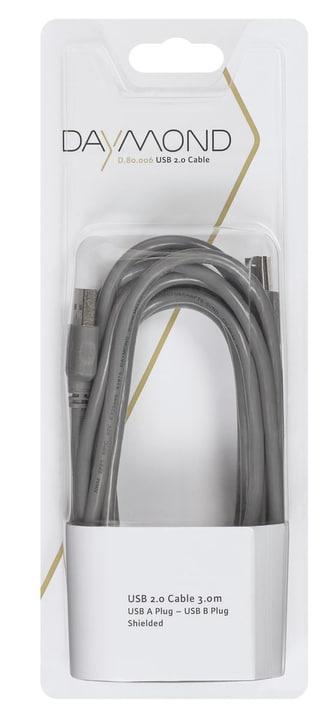 USB 2.0 3m grau Kabel Daymond 797953000000 Bild Nr. 1