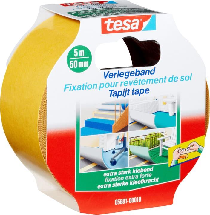 Nastro per posare extra forte, adesivo Tesa 663059600000 Colore Bianco Taglio L: 5.0 m x L: 50.0 mm N. figura 1