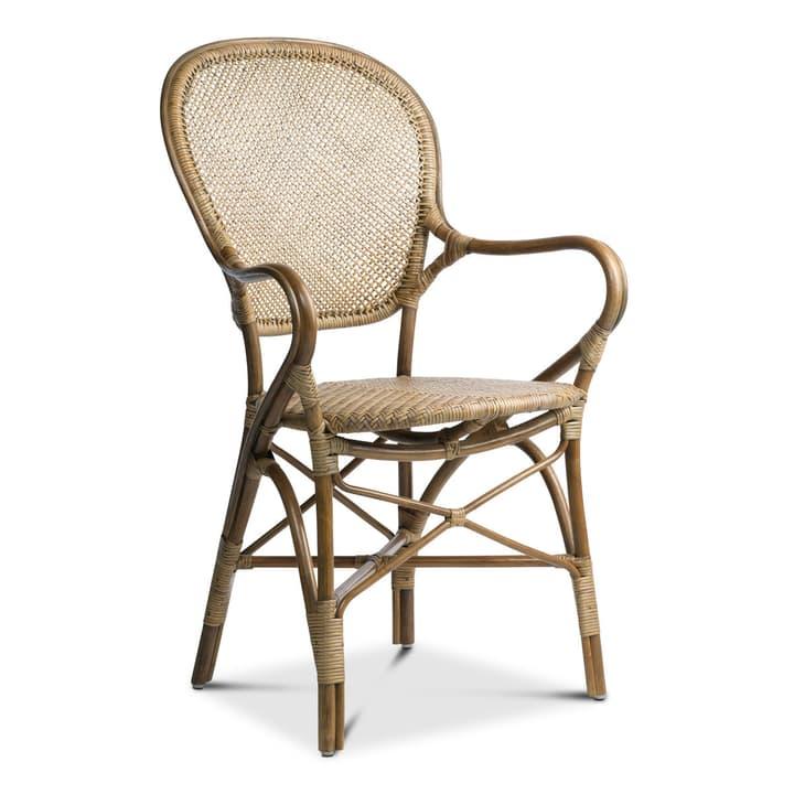 ROSSINI Chaise en rotin 366004795901 Dimensions L: 54.0 cm x P: 55.0 cm x H: 93.0 cm Couleur Brun Photo no. 1