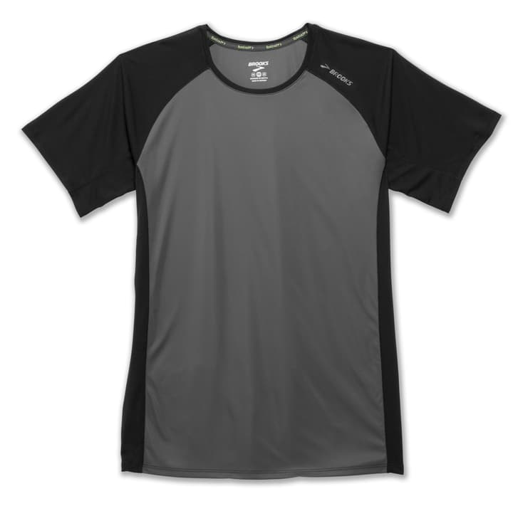 STEALTH SHORT SLEEVE Shirt pour homme Brooks 470154200483 Couleur gris foncé Taille M Photo no. 1