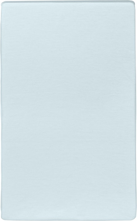 CARLOS Drap-housse en jersey 451033230341 Couleur Bleu clair Dimensions L: 90.0 cm x H: 200.0 cm Photo no. 1