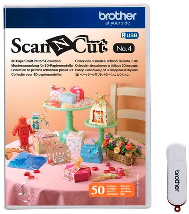 Design ScanNCut Nr. 4 modèles en papier Brother 785300142667 N. figura 1