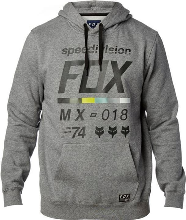 District 2 Hoody Pull à capuche pour homme Fox 461346700380 Couleur gris Taille S Photo no. 1
