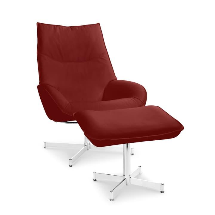 DAHLIA fauteuil et repose-pieds 360010347406 Dimensions L: 73.0 cm x P: 87.0 cm x H: 104.0 cm Couleur Rouge Photo no. 1