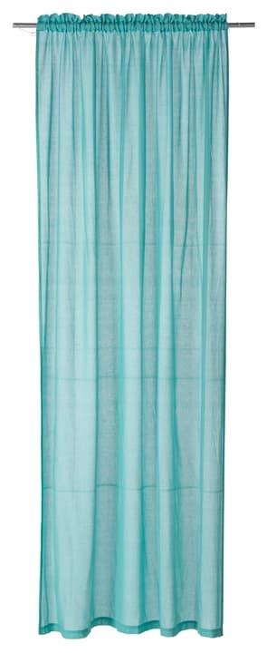 PEPE Rideau prêt à poser jour 430255021844 Couleur Turquoise Dimensions L: 150.0 cm x H: 260.0 cm Photo no. 1