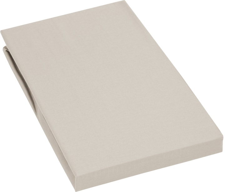 PENELOPE Drap-housse en satin 451043431472 Couleur Beige Dimensions L: 140.0 cm x H: 200.0 cm Photo no. 1