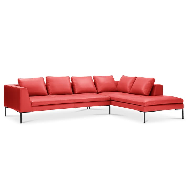 BRANDON Canapé d'angle 3pl/Rec 366127050230 Dimensions L: 319.0 cm x P: 230.0 cm x H: 86.0 cm Couleur Rouge Photo no. 1