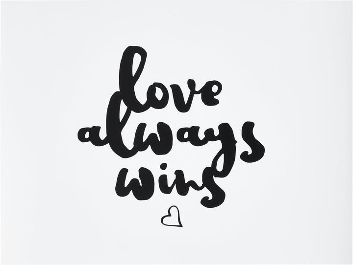 LOVE ALWAYS WINS Poster 431842100000 Photo no. 1