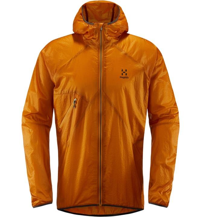 L.I.M Shield Comp Hood Veste coupe-vent pour homme Haglöfs 465718200534 Couleur orange Taille L Photo no. 1