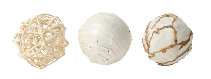 Boules Deco nature, 6cm, 3pcs. Do it + Garden 656546700001 Couleur Beige Taille ø: 60.0 mm Photo no. 1
