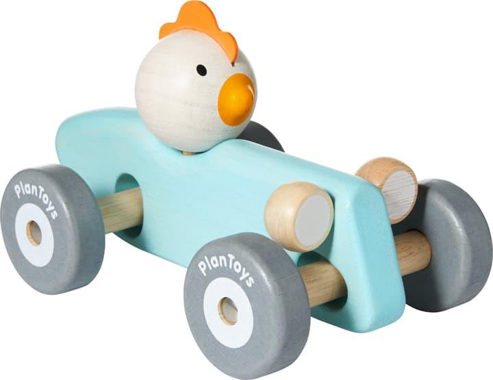 PUSH & PULL Rennwagen Huhn Plan Toys 404731002441 Grösse B: 11.5 cm x T: 18.0 cm x H: 13.0 cm Farbe Hellblau Bild Nr. 1