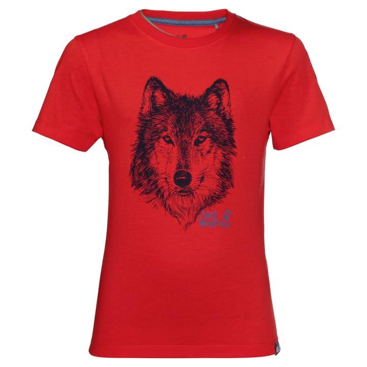 Brand T T-Shirt pour garçon Jack Wolfskin 464541112830 Couleur rouge Taille 128 Photo no. 1