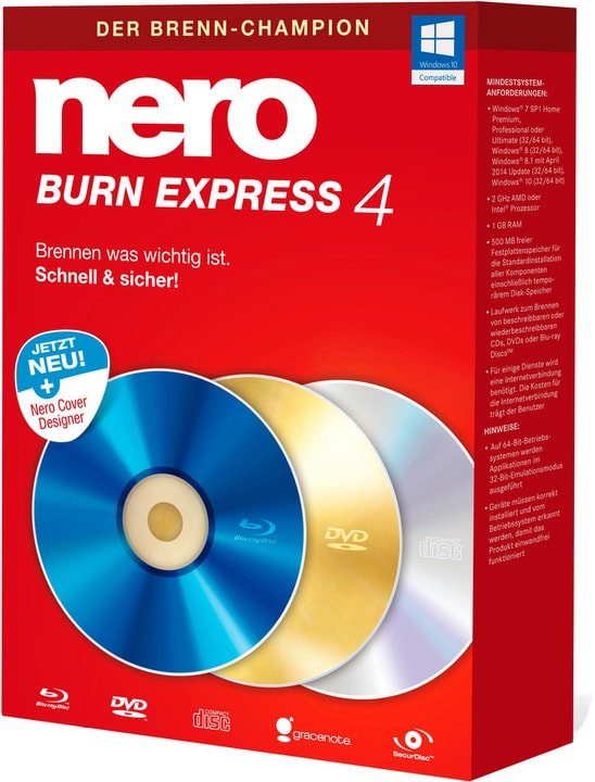 Nero Burn Express 4 Physique (Box) Nero 785300131750 Photo no. 1