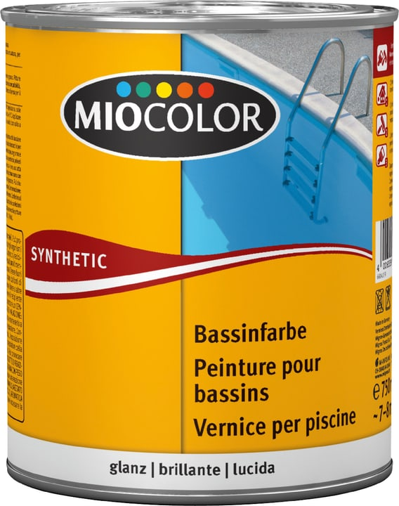 MC Peinture pour bassins bleu lido Bleu lido 750 ml Miocolor 661417900000 Photo no. 1