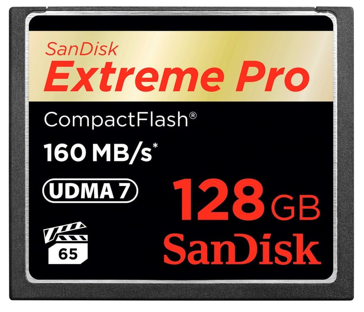 ExtremePro 160MB/s Compact Flash 128GB SanDisk 785300124251 Photo no. 1