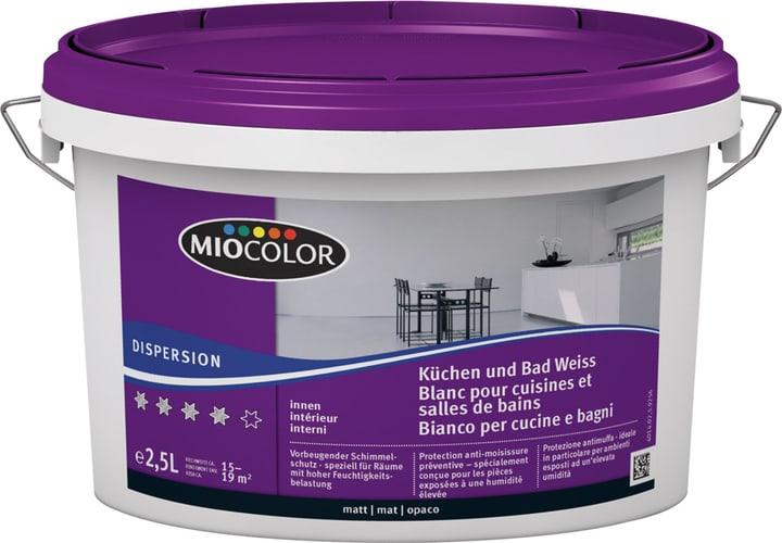 Küchen- und Bad Dispersion Weiss 2.5 l Miocolor 660729300000 Farbe Weiss Inhalt 2.5 l Bild Nr. 1