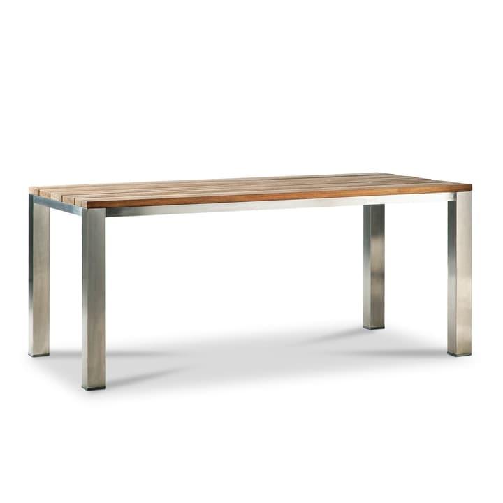 SILVIO Tisch Teak/Edelstahl 180x90cm 368007531902 Grösse B: 180.0 cm x T: 90.0 cm x H: 78.0 cm Farbe Teak Bild Nr. 1