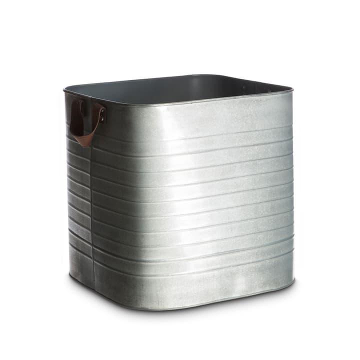 FARM Übertopf mit Leder Henkel 382074300000 Grösse B: 28.0 cm x T: 28.0 cm x H: 28.0 cm Farbe Grau Bild Nr. 1