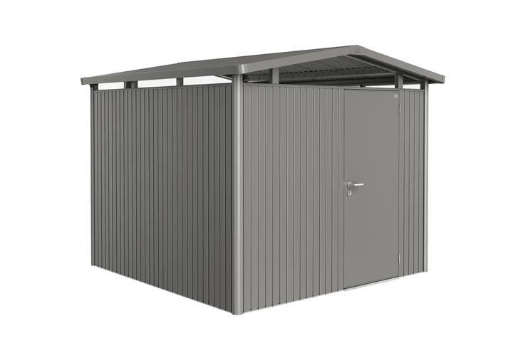 Ricovero Panorama P4 Biohort 647250900000 Colore Grigio Quartz-Metallico Copertura di tetto Tetto in lamiera zincata N. figura 1