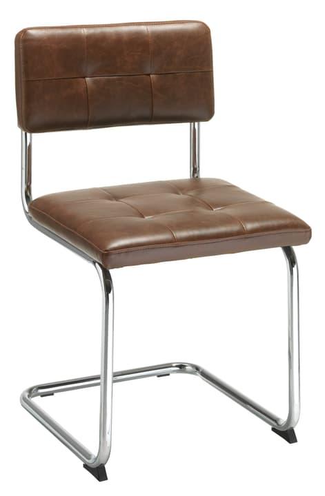 PIPPONI Chaise en porte-à-faux 402349500070 Dimensions L: 48.5 cm x P: 52.0 cm x H: 83.0 cm Couleur Marron Photo no. 1