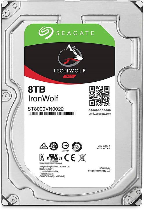 "IronWolf SATA 3.5"" 8 TB Disque Dur Interne HDD Seagate 785300145879 Photo no. 1"