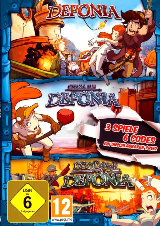 PC - Pyramide: Deponia Family Pack (D) Fisico (Box) 785300131300 N. figura 1