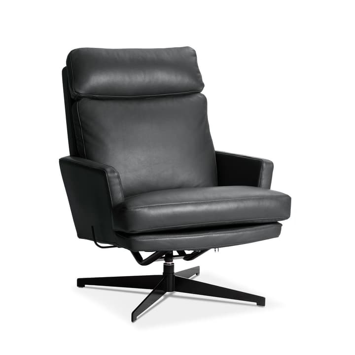 AIDEN Sessel 360049649803 Grösse B: 75.0 cm x T: 90.0 cm x H: 105.0 cm Farbe Schwarz Bild Nr. 1