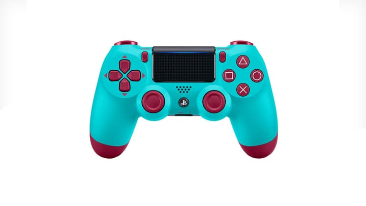 PS4 Wireless DualShock Controller v2 Berry Blue Manette Sony 785300139734 Photo no. 1