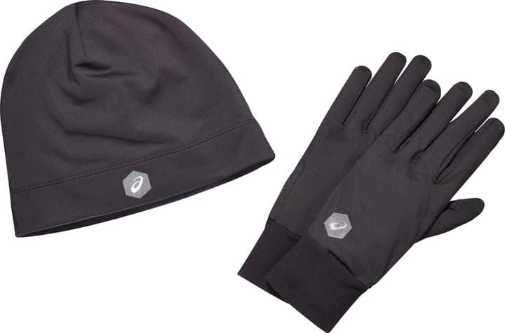 RUNNING PACK Set Mütze-Handschuhe Asics 463602300420 Farbe schwarz Grösse M Bild-Nr. 1