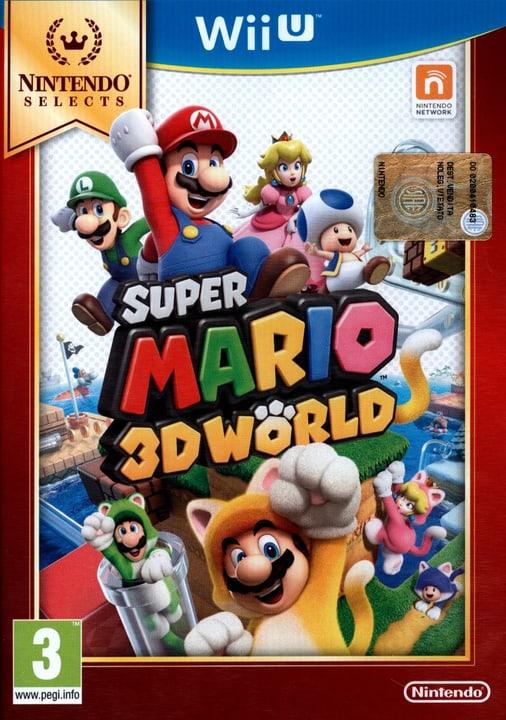 Wii U - Nintendo Selects: Super Mario 3D World Box 785300121748 N. figura 1