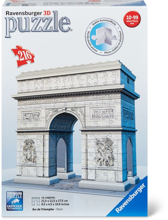RVB Arc de Triomphe 3D Puzzle 216 pcs. 745426600000 Photo no. 1